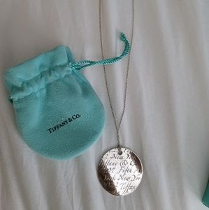 Tiffany & Co Notes pendant Retired